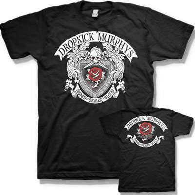 Signed and Sealed in Blood Album Tee   Dropkick murphys merch