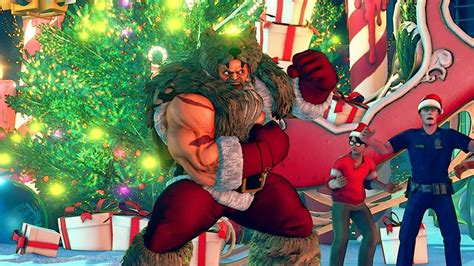 Check Out Street Fighter 5's Christmas DLC Stage and