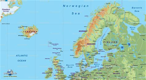 Map of Northern Europe - Map in the Atlas of the World