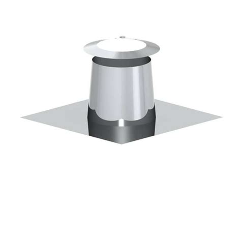 Jeremiah Flat Roof Outlet Stainless Steel 0 ° + Weather