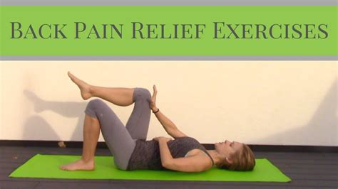 Back Pain Relief Exercises - Home Workout for Back