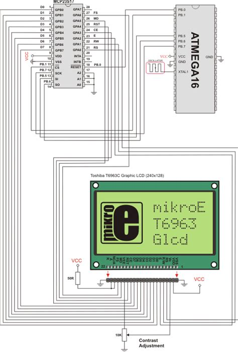 SPI T6963C Graphic Lcd Library