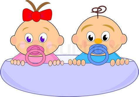 Baby girl (Thumbelina) with red bow and boy in blue cup