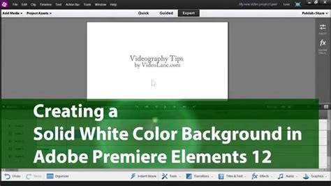 Creating a Solid White Color Background   Adobe Premiere
