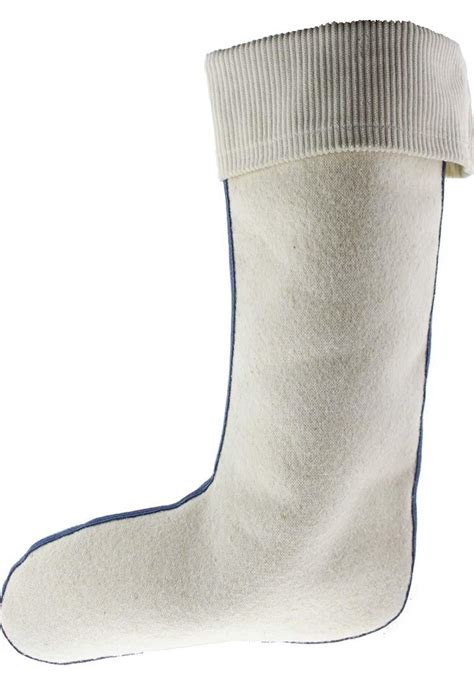 Lambswool Wellington boot Liners with Corduroy Cuff