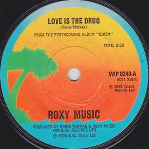 Roxy Music - Love Is The Drug (1975, Solid Centre, Vinyl