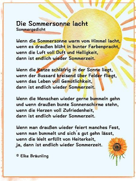 Die Sommersonne lacht