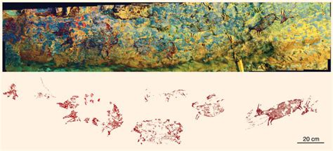 43,900-Year-Old Cave Painting Portrays Part-Human, Part