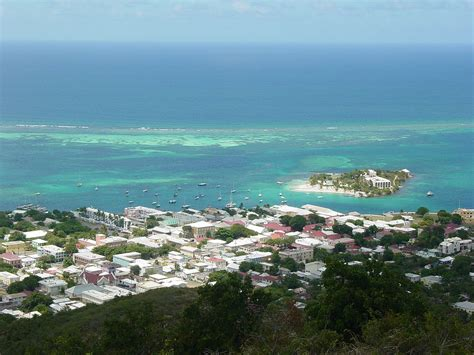 File:Christiansted, US Virgin Islands, from Recovery Hill